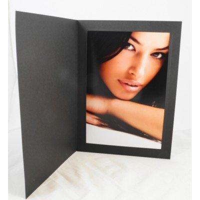 """7x5"""" Black Linen Folders"""